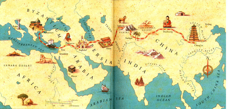 History of the Ancient Chinese Silk Road - Online Portfolio ... on scarcity of food in china, a map form america to china, russian maps n china,
